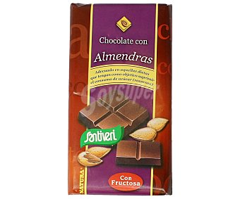 Santiveri Chocolate con leche con almendras 100 gramos