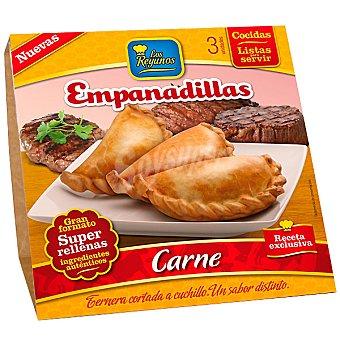 LOS REYUNOS empanadillas de carne cocidas listas para servir ... 3 unidades