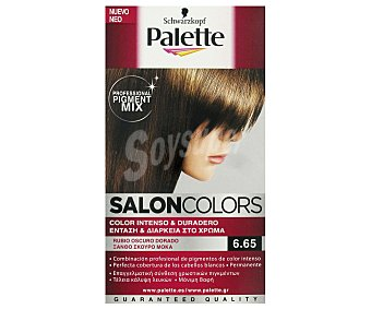 Palette Schwarzkopf Tinte Rubio Oscuro 6.65 Salon Colors 1 Unidad