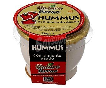 NATURE TERRAE Hummus con pimientos asados Tarro de 150 ml