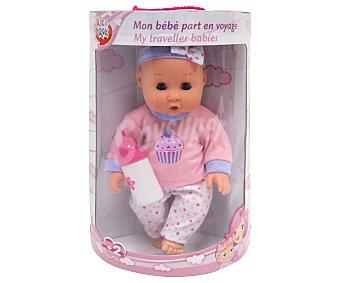 Rik&Rok Auchan Muñeco bebé de 30 centímetros, incluye accesorios 1 unidad