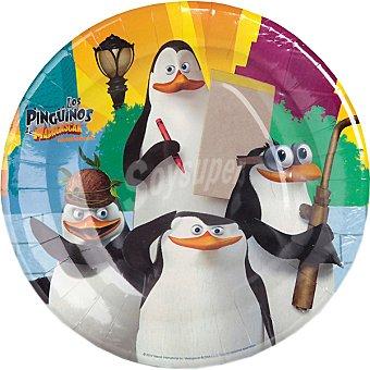 NV CORPORACION plato decorado Los Pingüinos de Madagascar 23 cm paquete 8 unidades