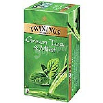 Twinings té verde a la menta Estuche 25 unidades