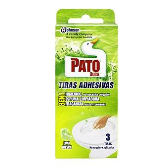 Pato Tiras adhesivas lima fresca Envase de 3 ud
