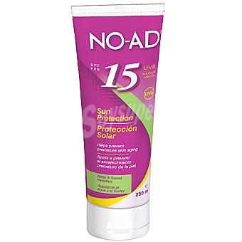 NO-AD Proteccion solar FP-15 ayuda a prevenir el envejecimiento prematuro de la piel resistente al agua tubo 250 ml