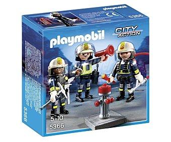 Playmobil Playset de juegos Equipo de bomberos, incluye 3 figuras, modelo 5366, City Action playmobil City Action 5366 Equipo de bomberos