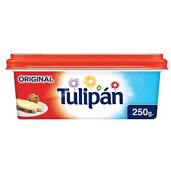 Tulipán Tarrina de margarina 3/4, elaborada con ingredientes de origen natural original 250 g