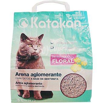 Arena para gatos a base de bentonita con perfume floral Bolsa 5 l