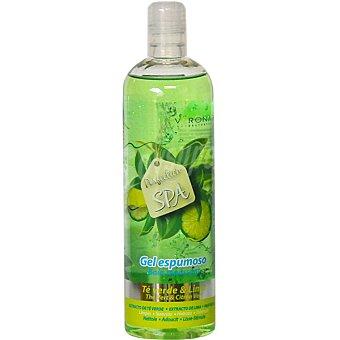 VERONA gel de baño espumoso de Té Verde y Lima limpia suaviza hidrata y estimula botella 500 ml