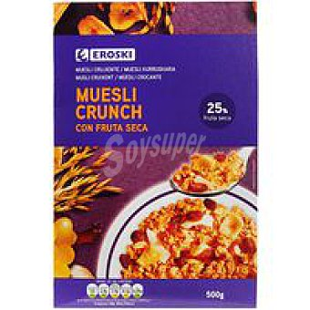 Eroski Cereales muesli crunch con fruta seca Caja 500 g