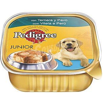 Pedigree Alimento para perro con ternera y pavo Junior tarrina de 300 g