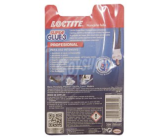 Loctite Super Glue 3 Adhesivo Instantaneo Transparente, Resistente al Agua. 20 Gramos 1 Unidad