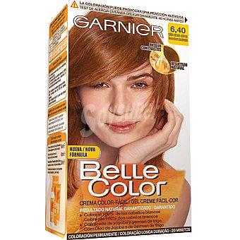 Belle Color Garnier Tinte rubio oscuro cobrizo nº 6.40 con aceite de jojoba y germen de trigo caja 1 unidad coloración permanente Caja 1 unidad