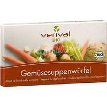 VERIVAL Pastillas de caldo vegetal sin gluten Paquete 90 g