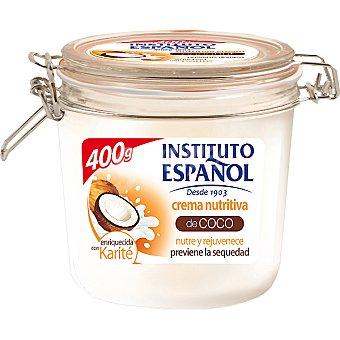 Instituto Español Crema corporal nutritiva de Coco enriquecida con Karité nutre y rejuvenece Tarro 400 ml
