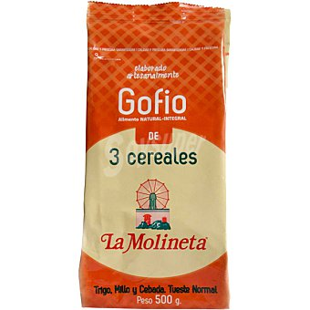 La molineta Gofio 3 cereales trigo millo y cebada bolsa 500 g Bolsa 500 g