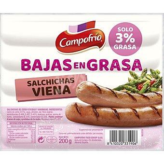Campofrío Salchichas Viena de cerdo cocidas y ahumadas bajas en grasa Envase 200 g