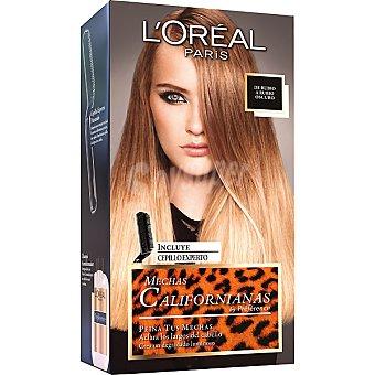 Preference L'Oréal Paris Crema colorante para mechas californianas de rubio a rubio oscuro caja 1 unidad incluye cepillo experto Caja 1 unidad