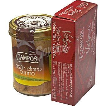CAMPOS lote de atún claro en aceite de oliva + regalo lata ventresca atún claro 111 g neto escurrido frasco 97 g neto escurrido