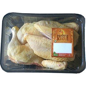 SABOR Pollo en cuartos peso aproximado Bandeja 1,3 kg
