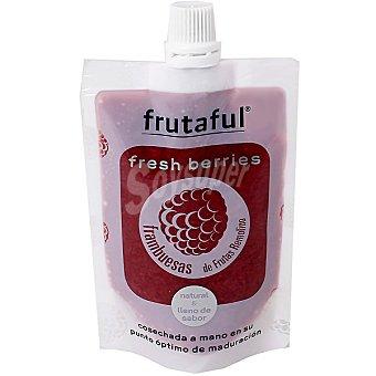FRUTAFUL Zumo pulpa de frambuesa cosechada a mano en su punto óptimo de maduración botella 80 g Botella 80 g