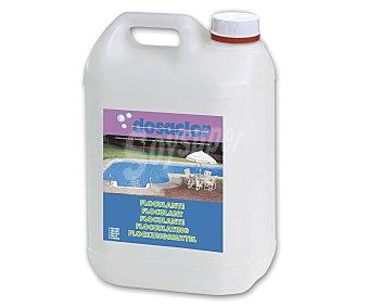 DOSACLOR Floculante líquido, que precipita la materia en suspensión del agua y es aconsejado para el tratamiento de piscinas en las que el agua se ha vuelto turbia debido a estas partículas, además de no modificar el pH del agua 5 litros
