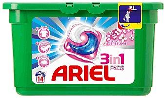 Ariel Detergente tabs 3EN1 sen 14 unidades