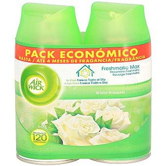 Air Wick Ambientador automático recambio fresh matic white bouquet Paquete 2 unidades