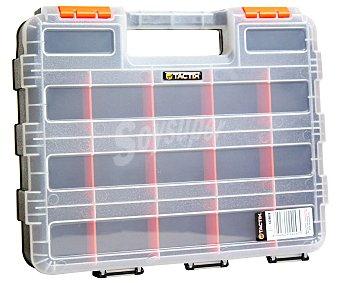 TACTIX Maletín Organizador de Doble Cara con 15 Compartimentos 1 Unidad