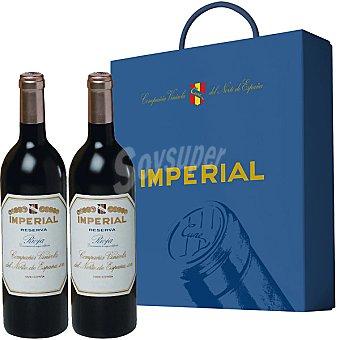 IMPERIAL vino tinto reserva D.O. Rioja Estuche 2 botellas 75 cl