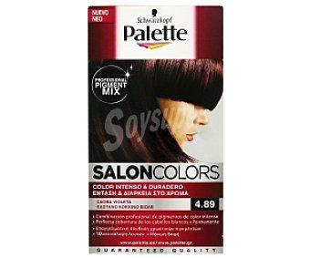 Palette Schwarzkopf Tinte Caoba Violeta 4.89 Salon Colors 1 Unidad