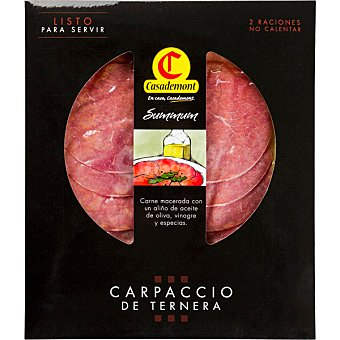 Casademont Carpaccio de ternera con aceite de oliva Envase 130 g