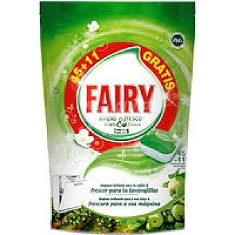 Fairy Lavavajillas máquina Limpio&Fresco manzana 45+11 dosis
