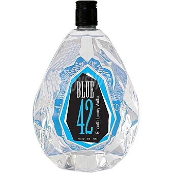 BLUE 42 vodka premium  botella 70 cl