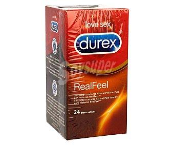 Durex Preservativos real feel sin látex Caja 24 u