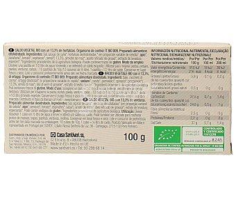 Santiveri Caldo de vegetales ecológicos 10 uds x 100 g