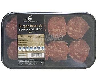 Artesanos gallegos Mini burger meat de ternera gallega 200 gramos