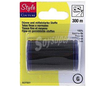 STYLE Hilo de algodón color negro, número 40 (telas gruesas), 300 metros 1 Unidad