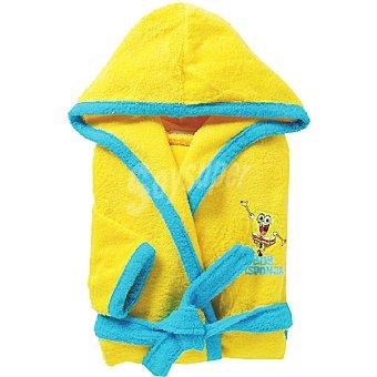 VIACOM Bob Esponja albornoz infantil de 8 a 10 años en color amarillo y azul