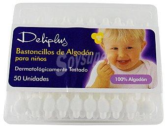 Deliplus Bastoncillo oidos niños Caja 50 u