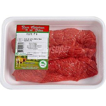 RAZA ASTURIANA DE LOS VALLES Ternera filetes 1ª B peso aproximado bandeja 800 g