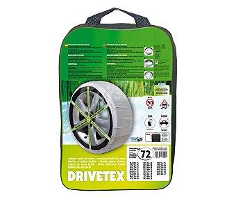 DRIVETEX Cadenas de nieve textil, número 72 2 unidades