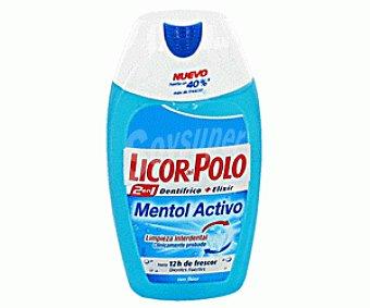 Licor del Polo Dentífrico 2 en 1 (dentífrico + Elixir) Mentol 75 Mililitros