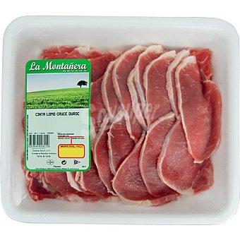 FACCSA Lomo fresco en filetes de cerdo bandeja familiar peso aproximado 1 kg