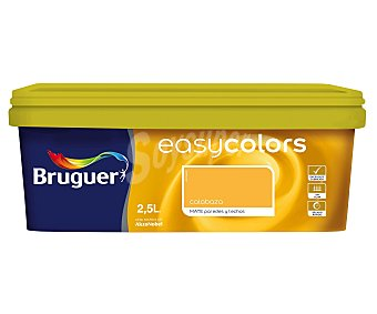 Bruguer Pintura Decorativa Acrílica, Color Calabaza, Easy Colors 2,5 Litros