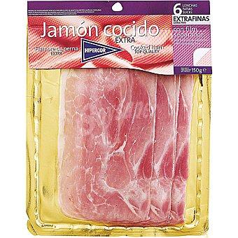 Hipercor Jamón cocido extra en lonchas extrafinas Sobre 150 g