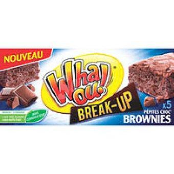 WHAOU Browni con pepita de chocolate 5 unid