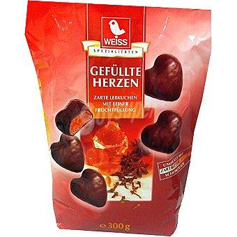 WEISS Corazones de chocolate rellenos de manzana y canela Paquete 150 g