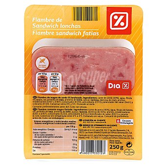 DIA Fiambre de sandwich Sobre 250 gr