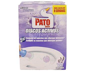 Pato Discos activos para el wc con aroma a lavanda 6 unidades